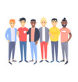 set of a group of different men cartoon style vector image vector image