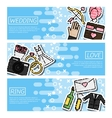 Set of Horizontal Banners about Wedding vector image