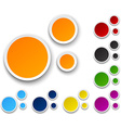Set of paper color bubbles vector image