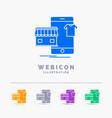 shopping garments buy online shop 5 color glyph vector image