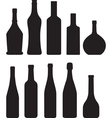 silhouette of bottles vector image