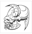 skull demon or evil horror vector image vector image