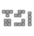 square brick pieces for game design vector image vector image