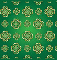 st patricks day pattern with 3d clover vector image vector image