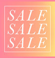 stylish simple sale vector image vector image
