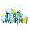 teamwork people work together and reach succes vector image