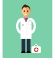 Template of man Doctor standing Isolated vector image vector image
