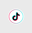 tik tok glitch icon social media odessa vector image vector image