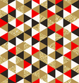 Triangles elements seamless background vector image