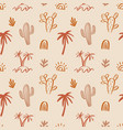 tropical beach summer seamless pattern vector image
