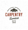 Vintage carpentry logo retro styled wood works
