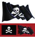 waving jolly roger of black sam vector image