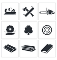 woodworking Icons set vector image