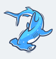 Hammerhead shark sea life vector image