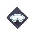 snowboard glasses logo design symbol stock vector image
