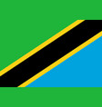 flag in colors of tanzania image vector image