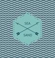 Sea waves pattern vector image