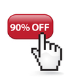 90 Off Button vector image vector image