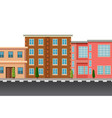 a flat town city landscape vector image vector image