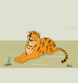 a tiger that is on nature vector image vector image