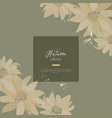 abstract floral pattern design vector image vector image