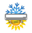 air conditioning for room symbol vector image vector image