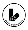 Ammo from hunting gun icon vector image vector image