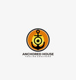 anchored house design template vector image
