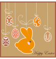antique postcard with Easter rabbit vector image vector image