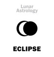 astrology lunar eclipse vector image vector image