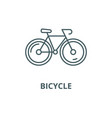 bicycle line icon bicycle outline sign vector image vector image