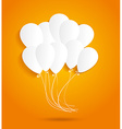 birthday card with paper balloons vector image vector image