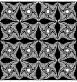 black and white pattern twisted squares vector image vector image