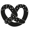 black and white pretzel with sesame seed vector image vector image