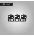 black and white style icon suitcases airport vector image vector image