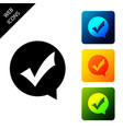 check mark in circle icon isolated choice button vector image vector image