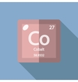 Chemical element Cobalt Flat vector image vector image