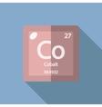 Chemical element Cobalt Flat vector image vector image