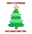 colorful Christmas tree on white background vector image vector image