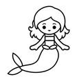 coloring book mermaid vector image vector image