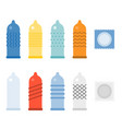condom collections icons set vector image vector image
