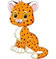 Cute baby cheetah sitting isolated vector image vector image