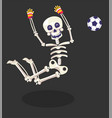 day dead skeleton football player gloves and vector image vector image