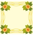 Decorative frame with flower vector image