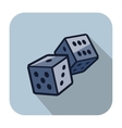 dice cubes vector image vector image
