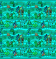 ethnic decorative seamless pattern vector image