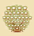 family tree template vector image