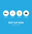 flat icon dress set of male footware banyan vector image vector image