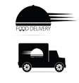 food delivery vehicle black vector image