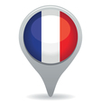 french flag pointer vector image vector image